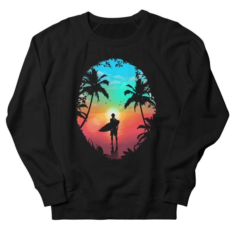 Summer Break Men's French Terry Sweatshirt by clingcling's Artist Shop