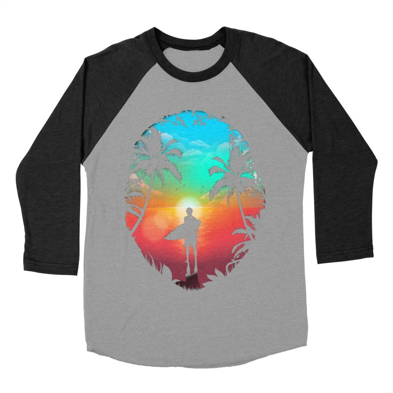 Summer Break Men's Baseball Triblend Longsleeve T-Shirt by clingcling's Artist Shop