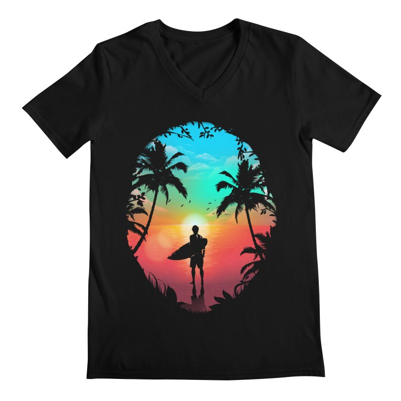 Summer Break Men's Regular V-Neck by clingcling's Artist Shop