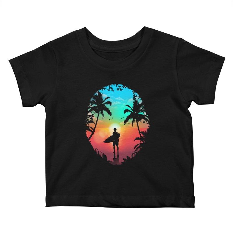 Summer Break Kids Baby T-Shirt by clingcling's Artist Shop
