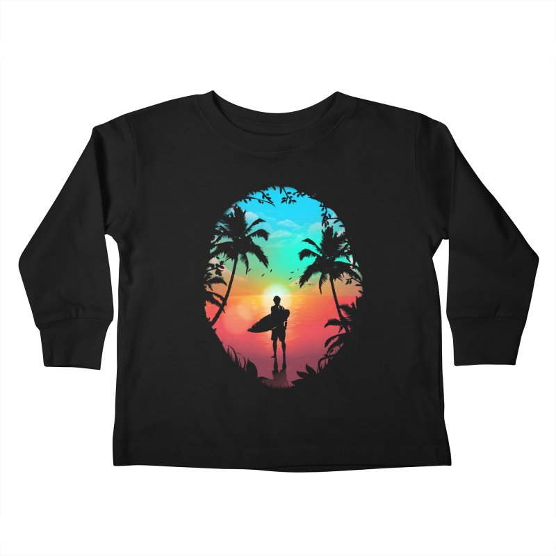 Summer Break Kids Toddler Longsleeve T-Shirt by clingcling's Artist Shop