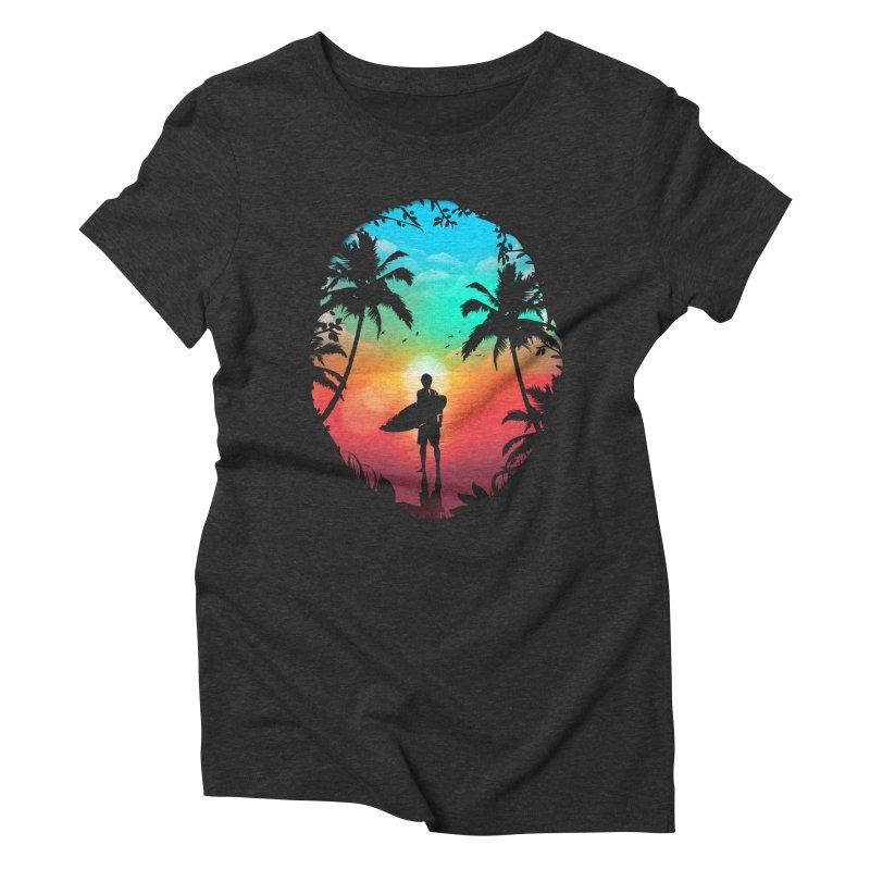 Summer Break Women's Triblend T-Shirt by clingcling's Artist Shop