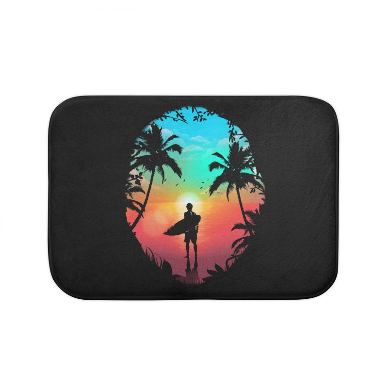 Summer Break Home Bath Mat by clingcling's Artist Shop