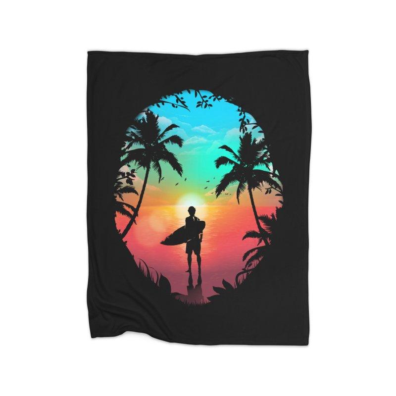 Summer Break Home Fleece Blanket Blanket by clingcling's Artist Shop