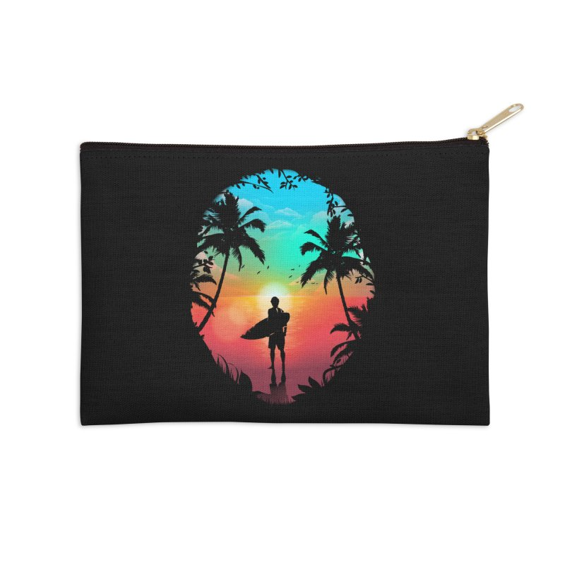 Summer Break Accessories Zip Pouch by clingcling's Artist Shop