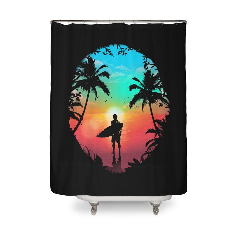 Summer Break Home Shower Curtain by clingcling's Artist Shop