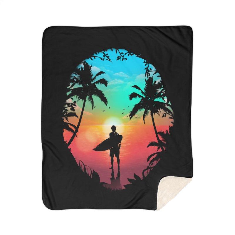 Summer Break Home Sherpa Blanket Blanket by clingcling's Artist Shop
