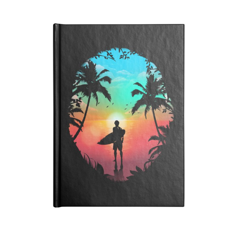 Summer Break Accessories Blank Journal Notebook by clingcling's Artist Shop