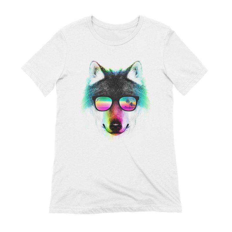 Summer Wolf Women's Extra Soft T-Shirt by clingcling's Artist Shop