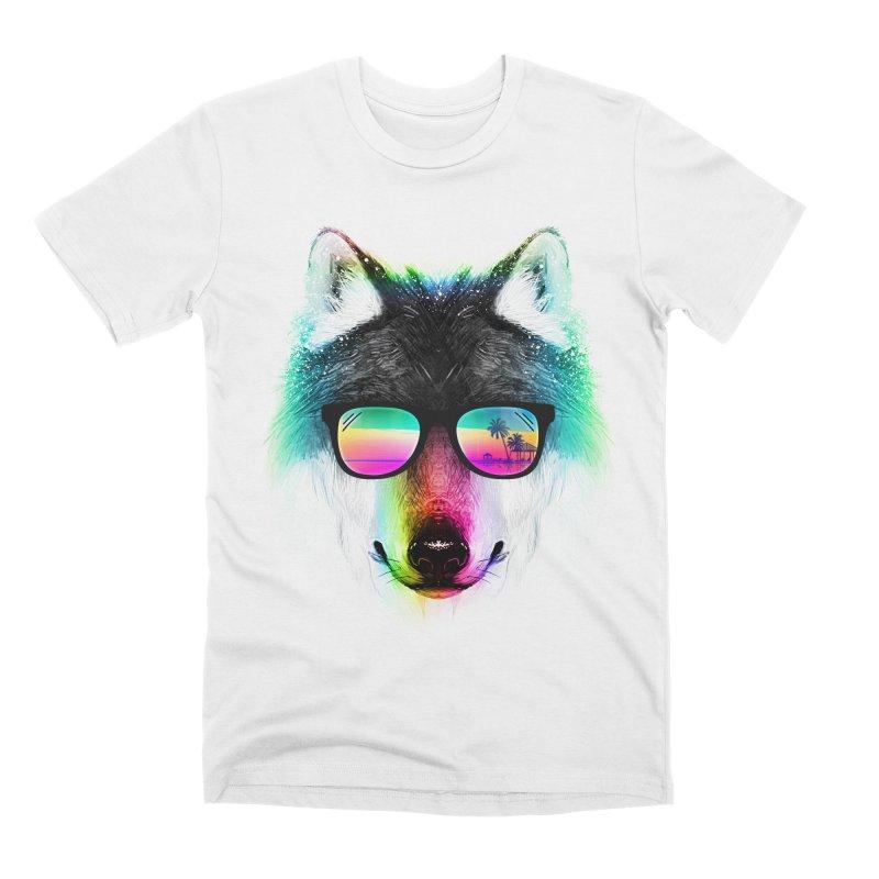Summer Wolf Men's Premium T-Shirt by clingcling's Artist Shop