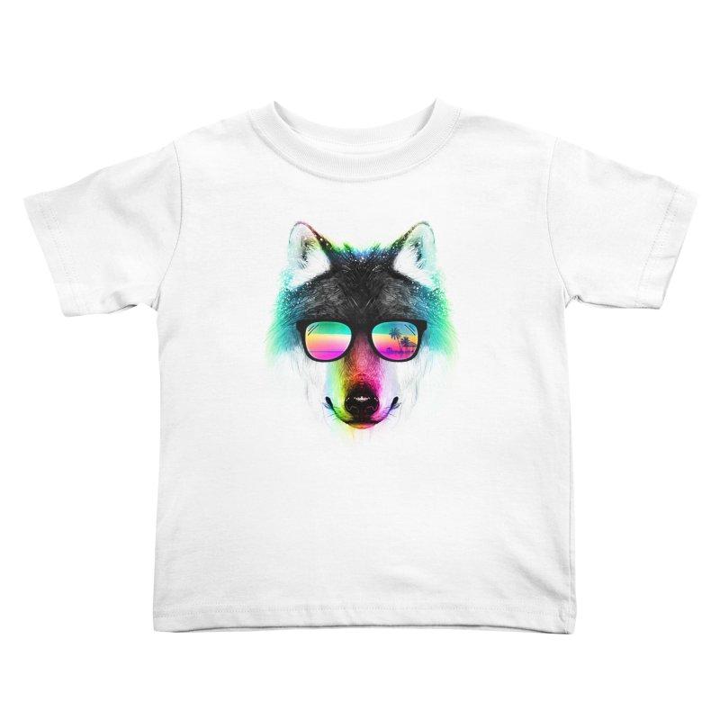 Summer Wolf Kids Toddler T-Shirt by clingcling's Artist Shop