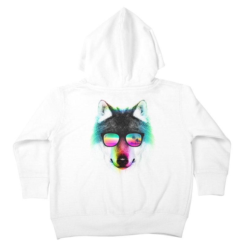 Summer Wolf Kids Toddler Zip-Up Hoody by clingcling's Artist Shop
