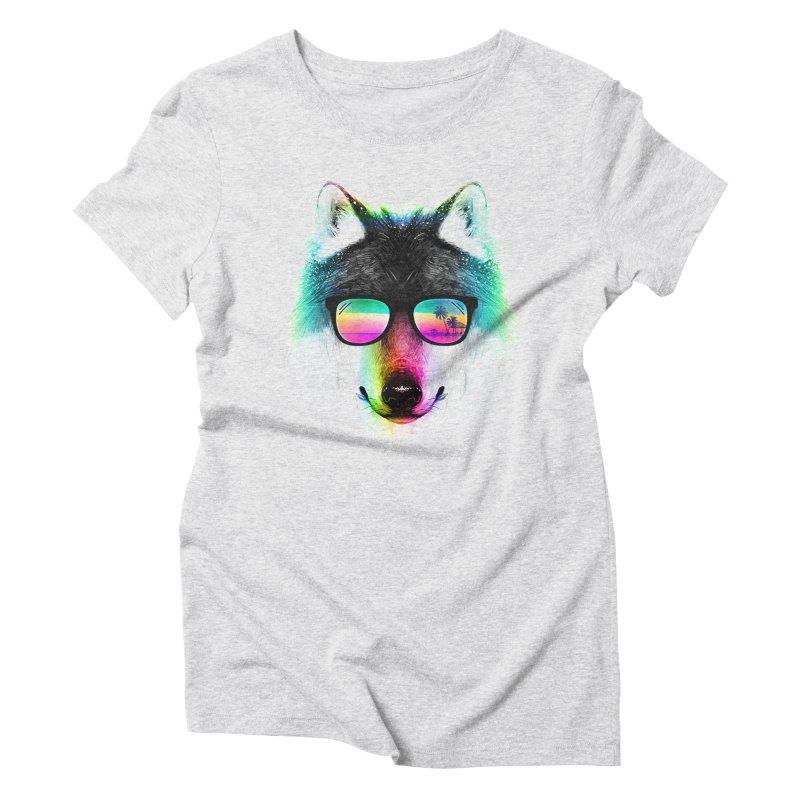 Summer Wolf Women's Triblend T-Shirt by clingcling's Artist Shop