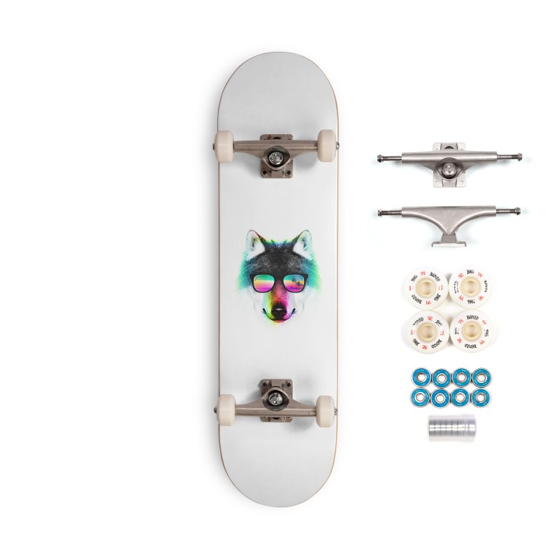 Summer Wolf Accessories Complete - Premium Skateboard by clingcling's Artist Shop