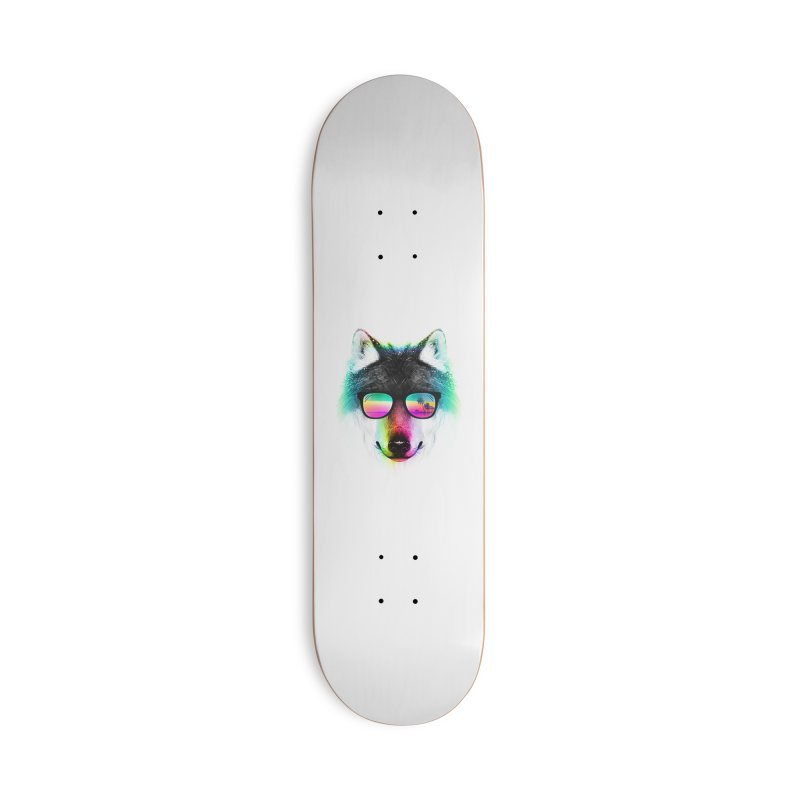 Summer Wolf Accessories Deck Only Skateboard by clingcling's Artist Shop