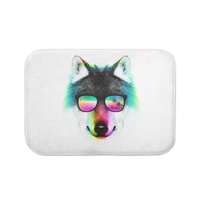 Summer Wolf Home Bath Mat by clingcling's Artist Shop