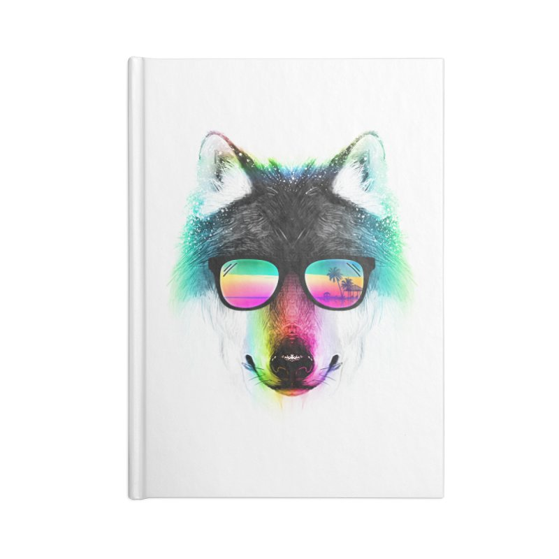 Summer Wolf Accessories Blank Journal Notebook by clingcling's Artist Shop