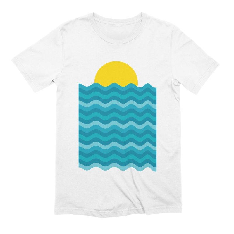 Sunset Waves Men's Extra Soft T-Shirt by clingcling's Artist Shop