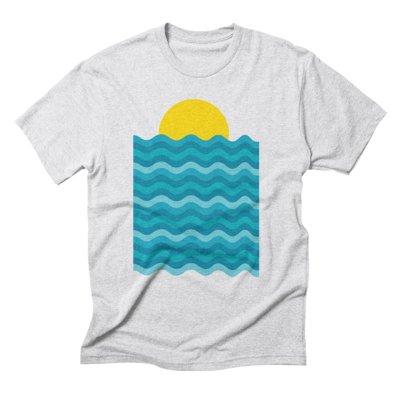 Sunset Waves Men's Triblend T-Shirt by clingcling's Artist Shop
