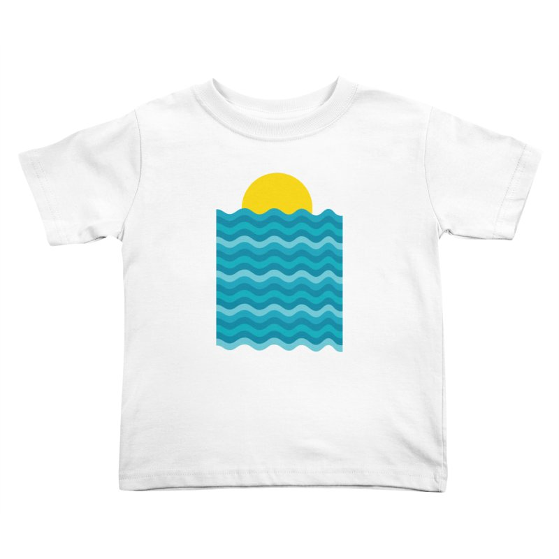 Sunset Waves Kids Toddler T-Shirt by clingcling's Artist Shop