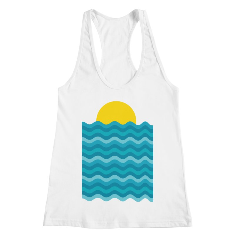 Sunset Waves Women's Tank by clingcling's Artist Shop