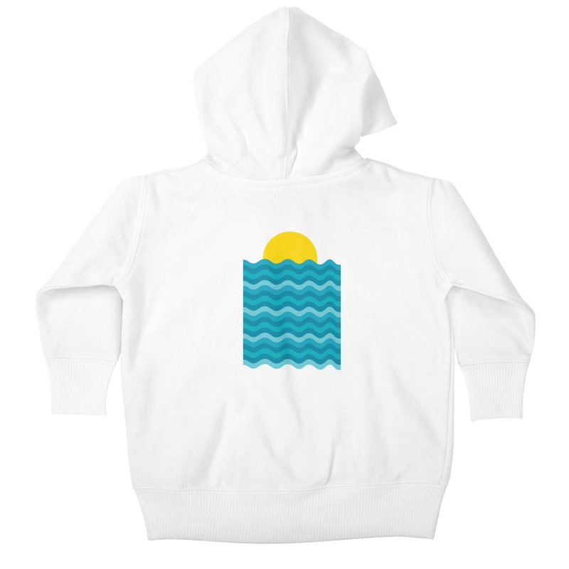 Sunset Waves Kids Baby Zip-Up Hoody by clingcling's Artist Shop