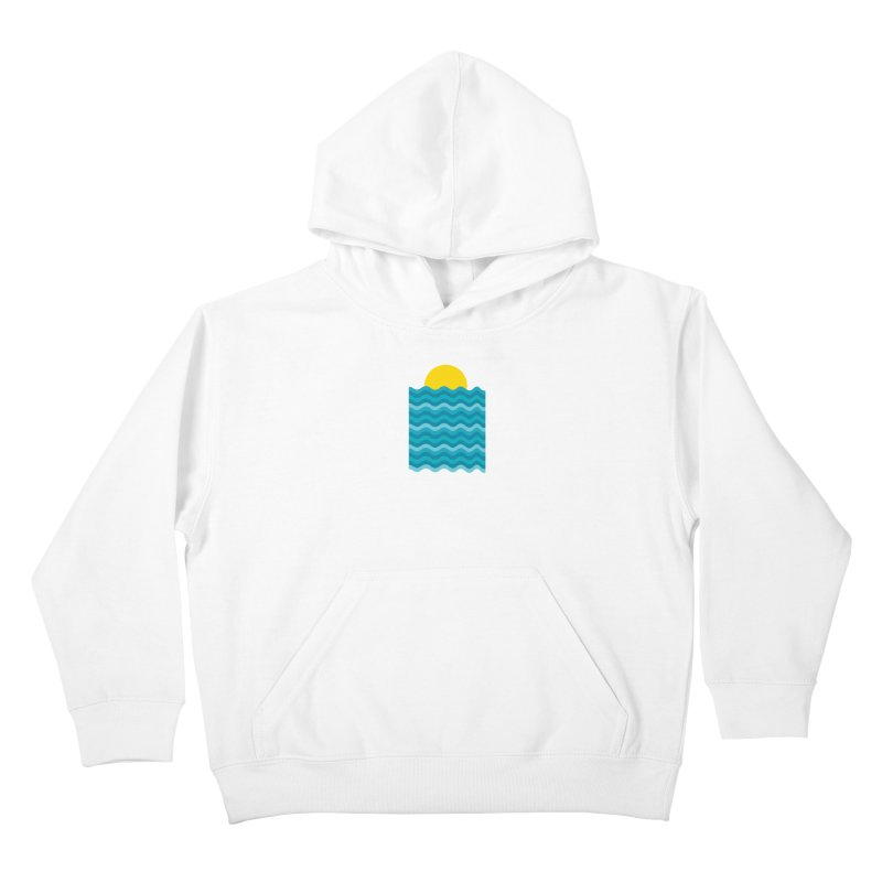 Sunset Waves Kids Pullover Hoody by clingcling's Artist Shop