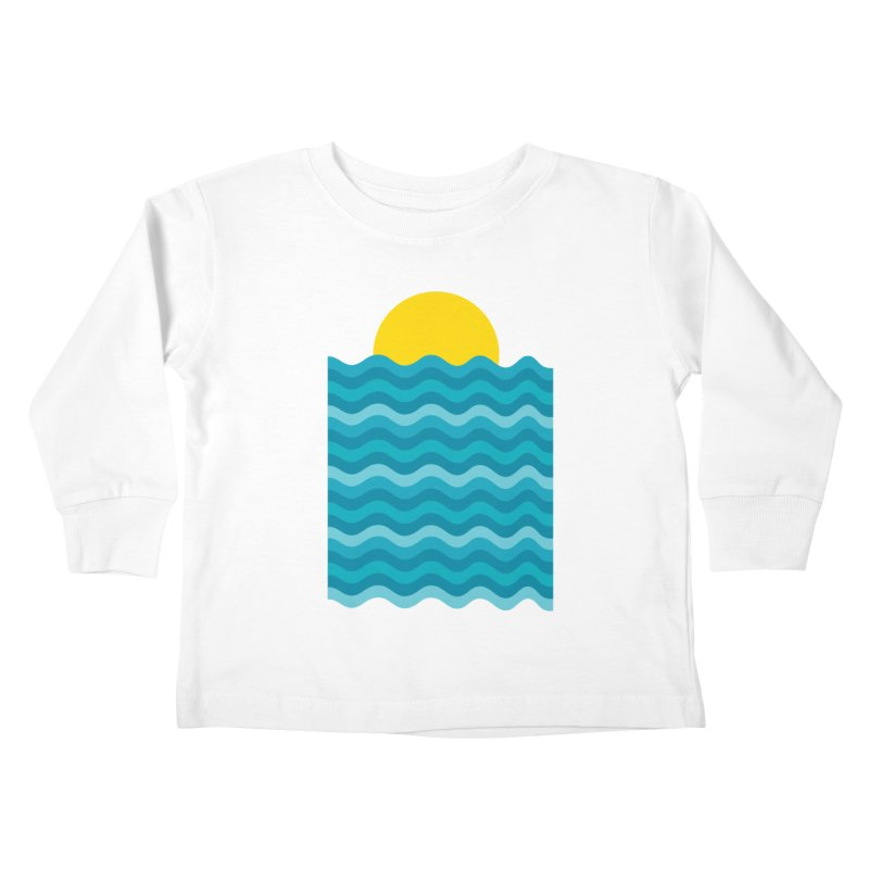 Sunset Waves Kids Toddler Longsleeve T-Shirt by clingcling's Artist Shop