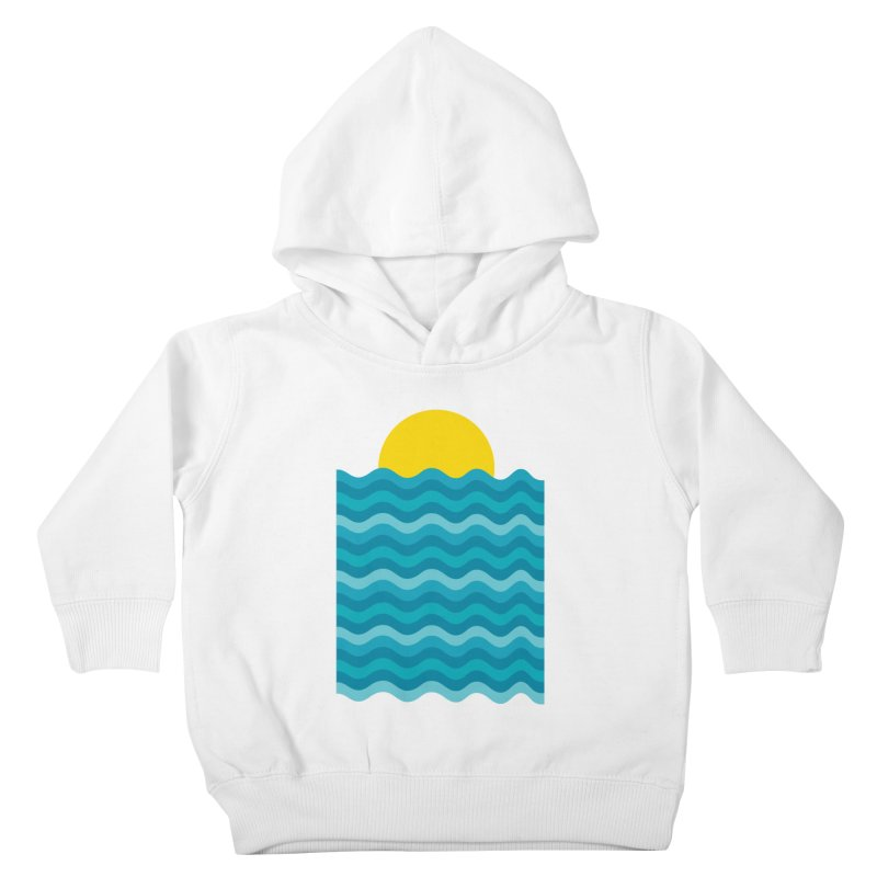 Sunset Waves Kids Toddler Pullover Hoody by clingcling's Artist Shop