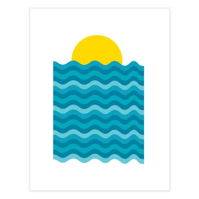 Sunset Waves Home Fine Art Print by clingcling's Artist Shop