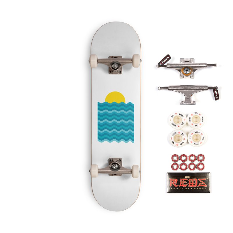 Sunset Waves Accessories Complete - Pro Skateboard by clingcling's Artist Shop