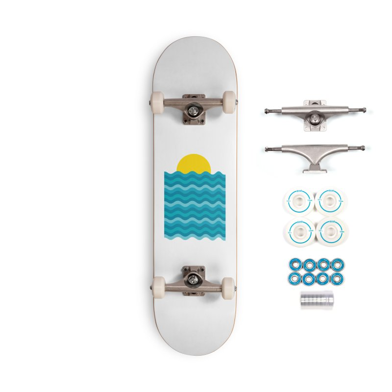 Sunset Waves Accessories Complete - Basic Skateboard by clingcling's Artist Shop