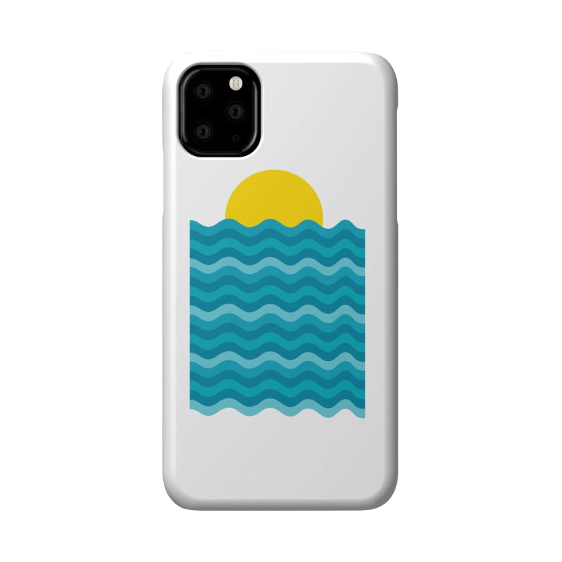 Sunset Waves Accessories Phone Case by clingcling's Artist Shop