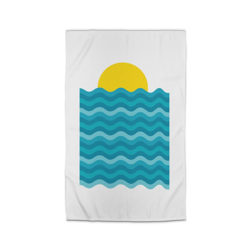 Sunset Waves Home Rug by clingcling's Artist Shop
