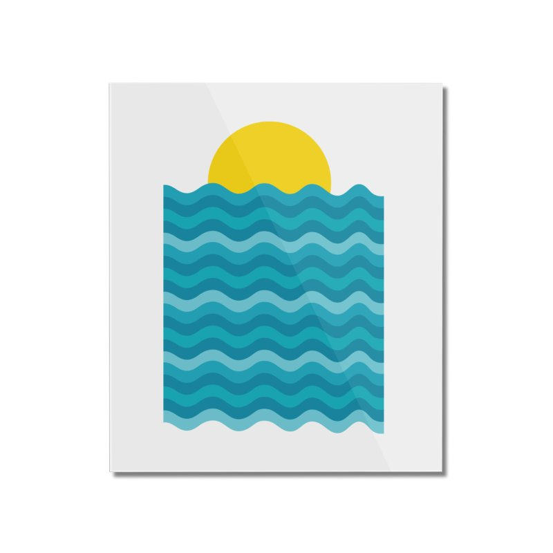 Sunset Waves Home Mounted Acrylic Print by clingcling's Artist Shop