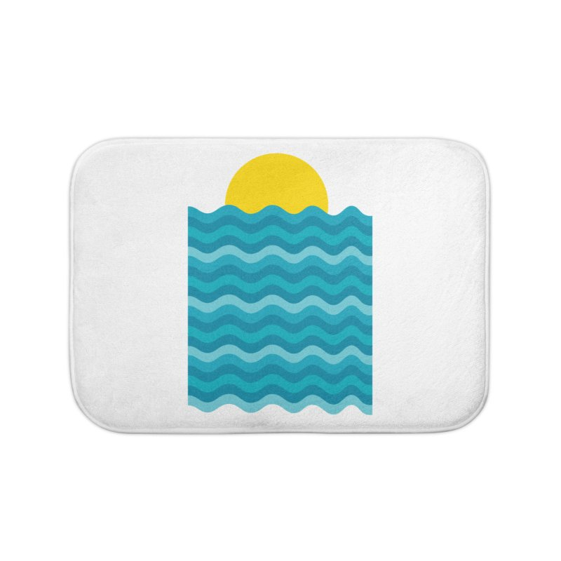 Sunset Waves Home Bath Mat by clingcling's Artist Shop