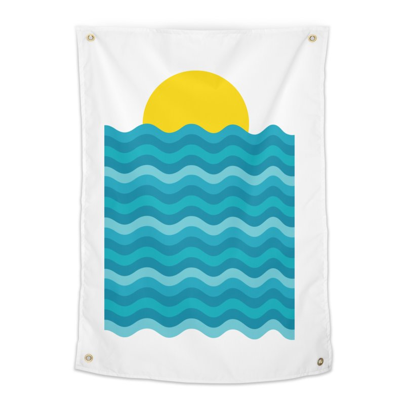 Sunset Waves Home Tapestry by clingcling's Artist Shop