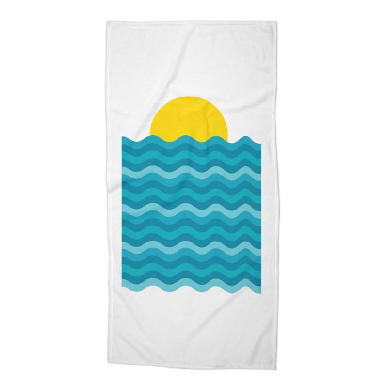 Sunset Waves Accessories Beach Towel by clingcling's Artist Shop