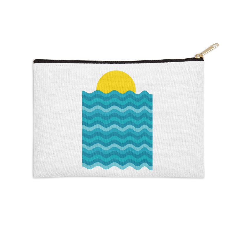 Sunset Waves Accessories Zip Pouch by clingcling's Artist Shop