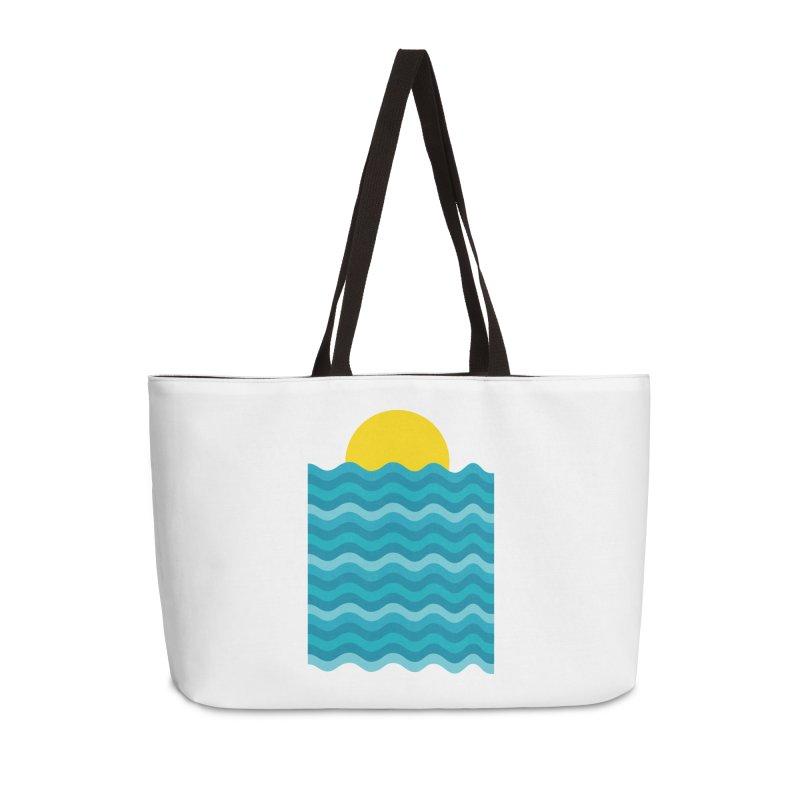 Sunset Waves Accessories Weekender Bag Bag by clingcling's Artist Shop