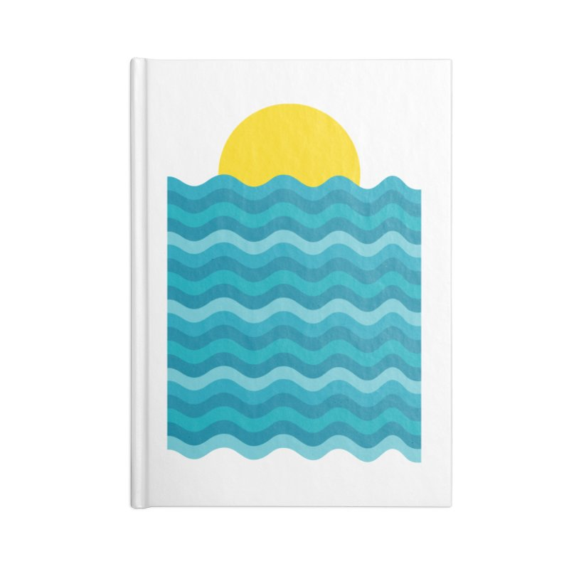 Sunset Waves Accessories Blank Journal Notebook by clingcling's Artist Shop