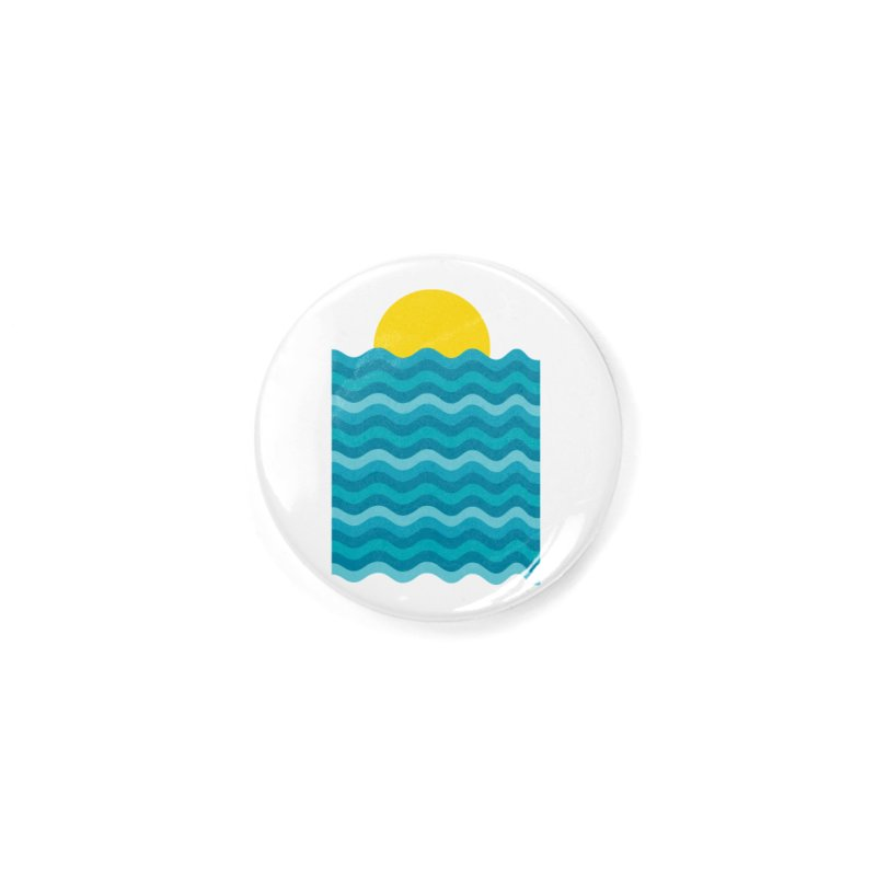 Sunset Waves Accessories Button by clingcling's Artist Shop