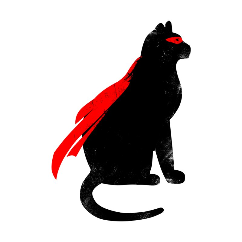 Super Hero cat Men's T-Shirt by clingcling's Artist Shop