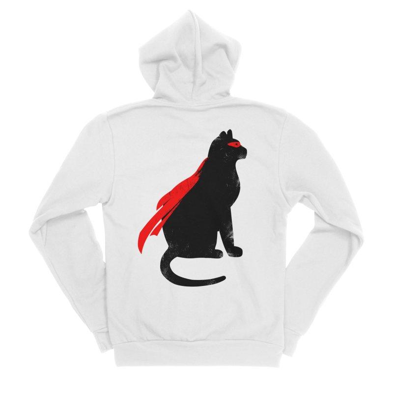 Super Hero cat Women's Zip-Up Hoody by clingcling's Artist Shop