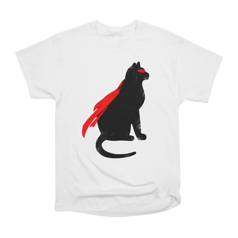 Super Hero cat Women's Heavyweight Unisex T-Shirt by clingcling's Artist Shop
