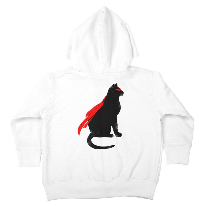 Super Hero cat Kids Toddler Zip-Up Hoody by clingcling's Artist Shop
