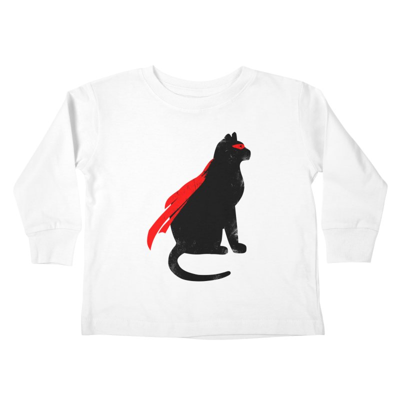 Super Hero cat Kids Toddler Longsleeve T-Shirt by clingcling's Artist Shop