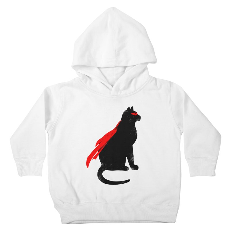 Super Hero cat Kids Toddler Pullover Hoody by clingcling's Artist Shop