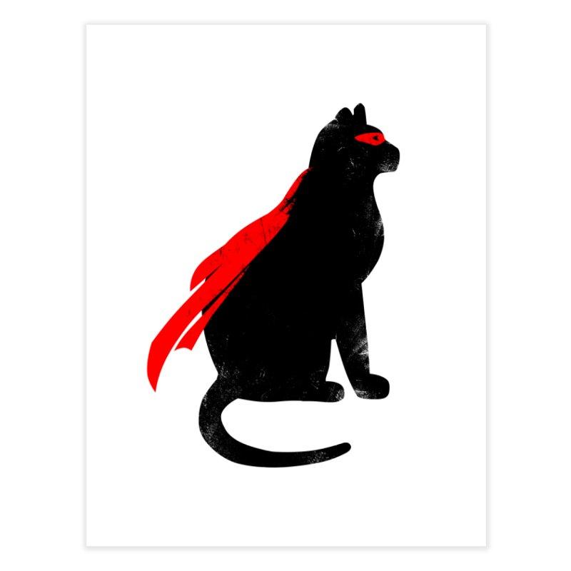 Super Hero cat Home Fine Art Print by clingcling's Artist Shop