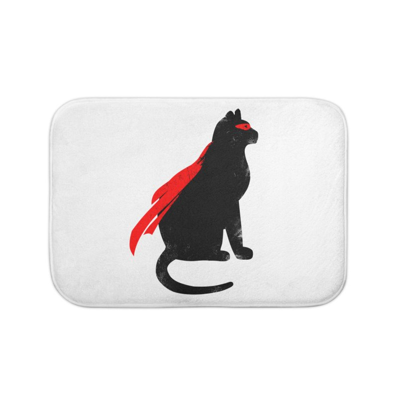 Super Hero cat Home Bath Mat by clingcling's Artist Shop